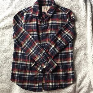 Jachs MFG co. navy and maroon flannel Small